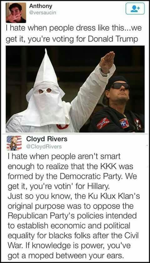 Some libtards are just this ignorant....and Anthony didn't apply himself in history class!