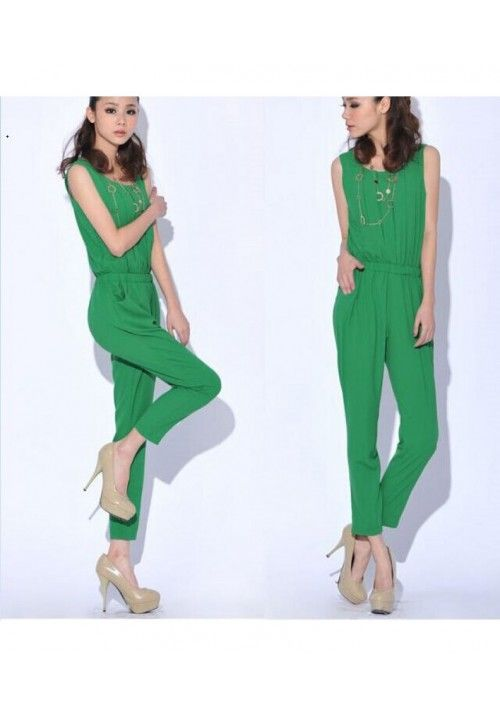 Style it right with a green jumpsuit