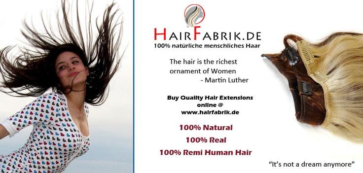 100% natürlich, 100% echthaar, 100% Remy Human Hair.  direkt Fabrikverkauf  Besuchen Sie weitere Details @ http://www.Hairfabrik.de/