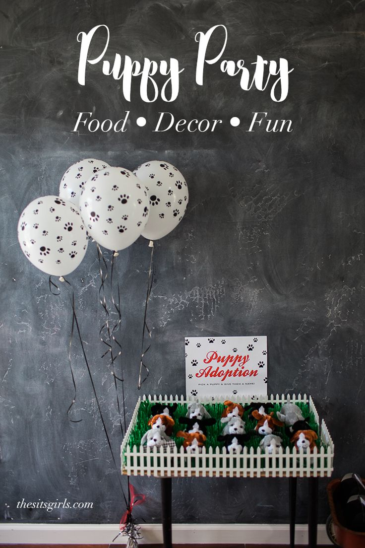 Throw the ultimate birthday party for your kids with these puppy party ideas! Includes a puppy adoption, adorable food table, fun puppy-themed craft, and puppy party decor ideas!