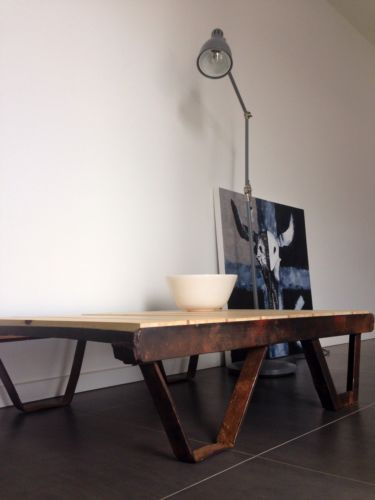 Industrial Table With A Huon Pine TOP in Deer Park, VIC | eBay
