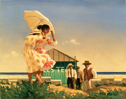 A Very Dangerous Beach by Jack Vettriano, part of the Summers Remembered collection