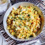 Arroz con pescado al curry