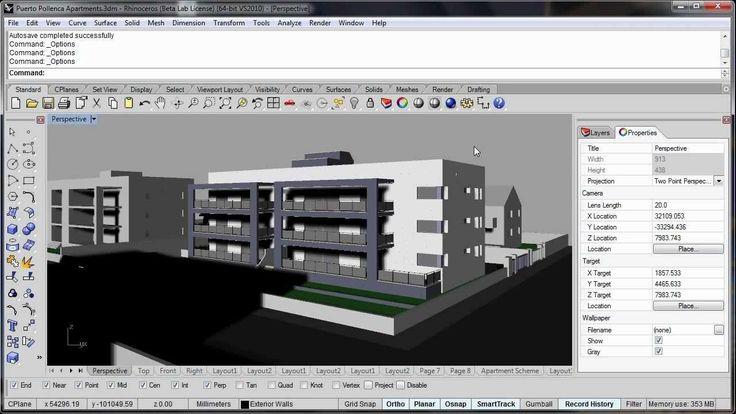 Rhino 3D V5 Architecture Visualisation Improvements