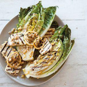 Grilled Halloumi and Little Gem Salad with Preserved-Lemon Dressing