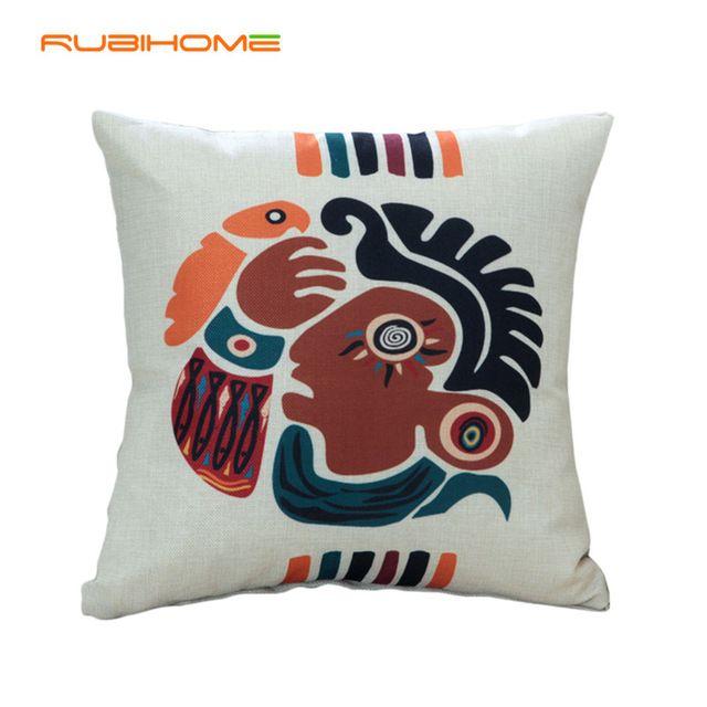 Nuevo Diseño Lindo Diseño Abstracto Decorativo Tejido de Poliéster Cojín Throw Almohada Decoración Sofá Asiento