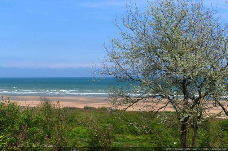Vue sur Omaha beach  - Colleville-sur-mer  [Normandie - Les plages du débarquement]