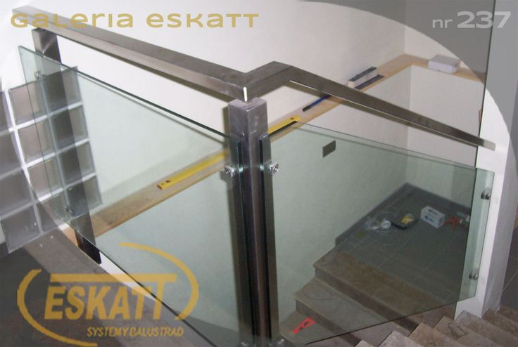 Stainless steel balustrade with glass panel filling #balustrade #eskatt #construction #stairs