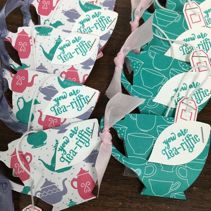 """candystampers: Stampin' Up! A Nice Cuppa, Cups & Kettles Framelits Dies, Have A Cuppa DSP cute favors with a single mint inside as the """"tea bag""""!"""