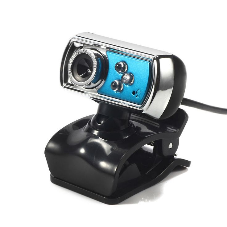 360 Degree Rotataion HD 12.0 MP USB Webcam Camera 3 LED Night Vision Camera with Mic Microphone for PC Laptop Computer Gadgets
