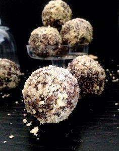 Des Energy balls au cacao et aux noix. Vegan, Paléo, sans gluten et sans lactose. Les compagnons idéals de vos séances sportives. E&S