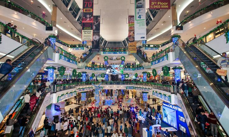 .South City Mall in Kolkata, India  Consumer culture spreads to the global south…
