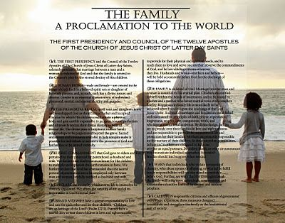 The Family: A Proclamation to the World  I like the idea of having the Proc. on one side, not centered, and the family on the other side.