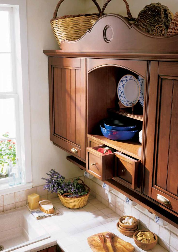 Wooden Cupboard for a #Country #Kitchen. Charm and sophistication.
