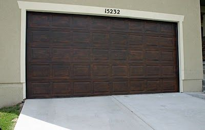 Paint your garage door!: Moody Girls, Girls Projects, Garages, Garage Doors, Wooden Garage, Faux Wood, Garage Ideas, Exterior Paintings, Diy Projects