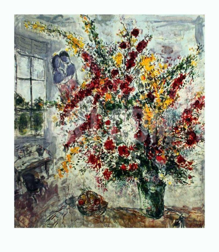 Window Bouquet Art Print by Marc Chagall at Art.com