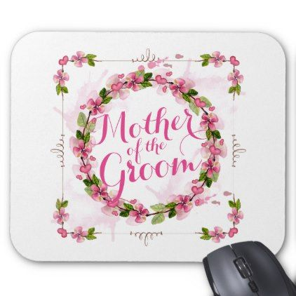 Mother of the Groom Watercolor | Mousepad - floral bridal shower gifts wedding bride party
