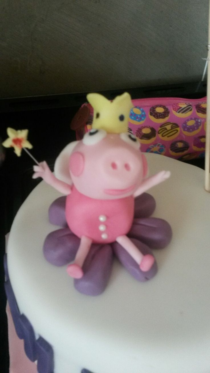 Peppa pig topper made by me...inspired by a post on pinterest