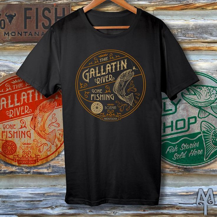 "53 Likes, 1 Comments - Montana Treasures (@montana_treasures) on Instagram: ""Gallatin River, Gone Fishing, black T-shirt...Drop by the Montana Treasures store and pick up a souvenir of what will undoubtably be a fantastic Summer of fishing and hiking in southwest Montana. The fun is just beginning. :)"""