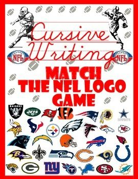 Cursive writing is easy to learn when students buy-in with a fun game. Since NFL Football season is almost here, why not use that as a theme.The worksheets from A-Z (lowercase, uppercase, and words) have lines for practice, and a picture of a word corresponding to the letter.