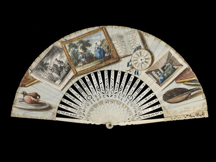 In pictures: Treasured Possessions from the Renaissance to the Enlightenment | History Extra- Folding 'Trompe l'oeil' fan, English, c1750