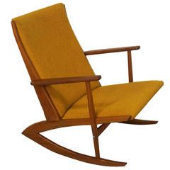 Danish Teak Boomerang Rocking Chair by Georg Jensen