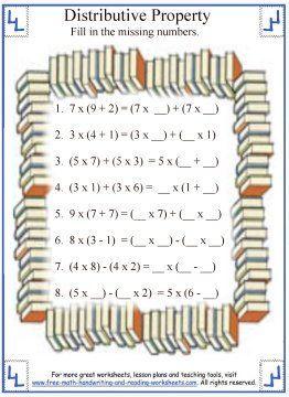 math worksheet : 8 best multiplication for regan images on pinterest  math  : Distributive Property Worksheets 6th Grade