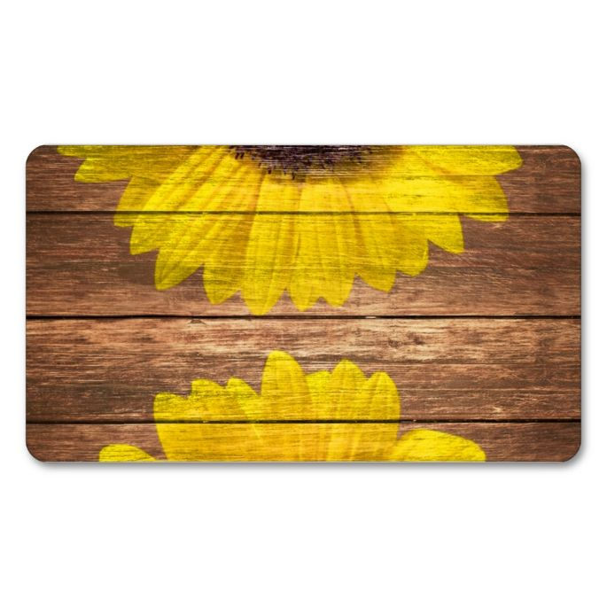 yellow sunflowers rustic vintage brown wood doublesided standard business cards pack of 100