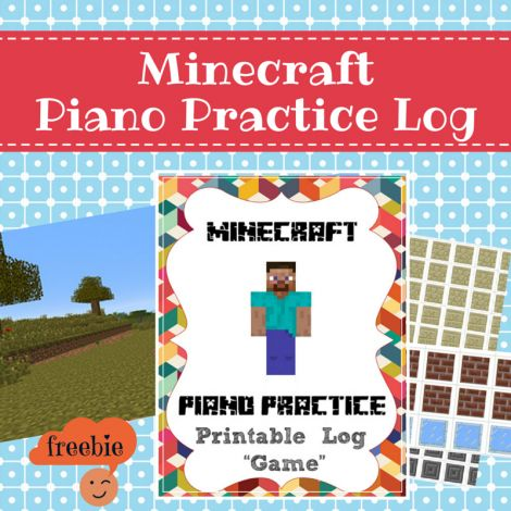 Mix minecraft with piano practice with this simple printable game. Your child will love it, and it's free! From sponsor @educents