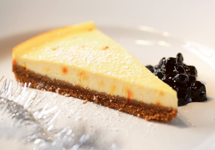 Skånemejerier | Saffranscheesecake med pepparkaksbotten