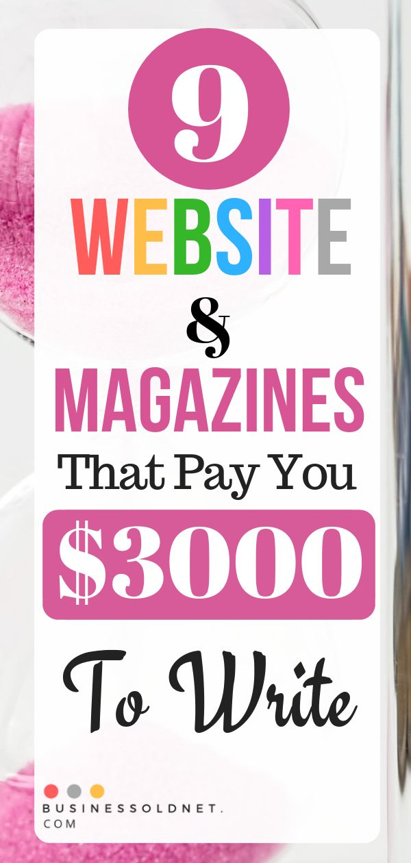 9 Website & Magazines That Pay You $3000 To Write  – MariaNatalia Nieto