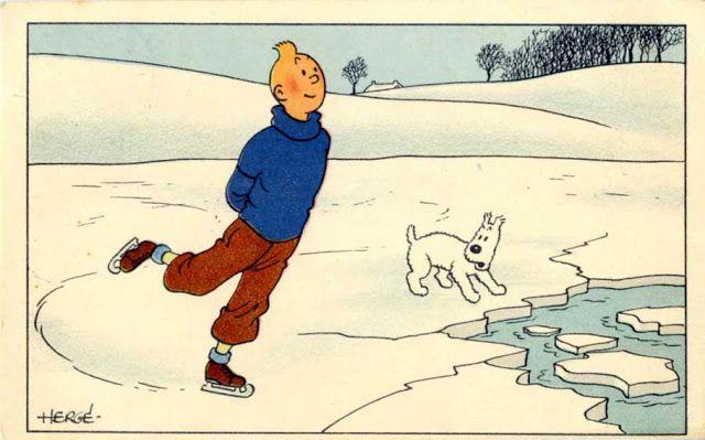 Carte neige Tintin