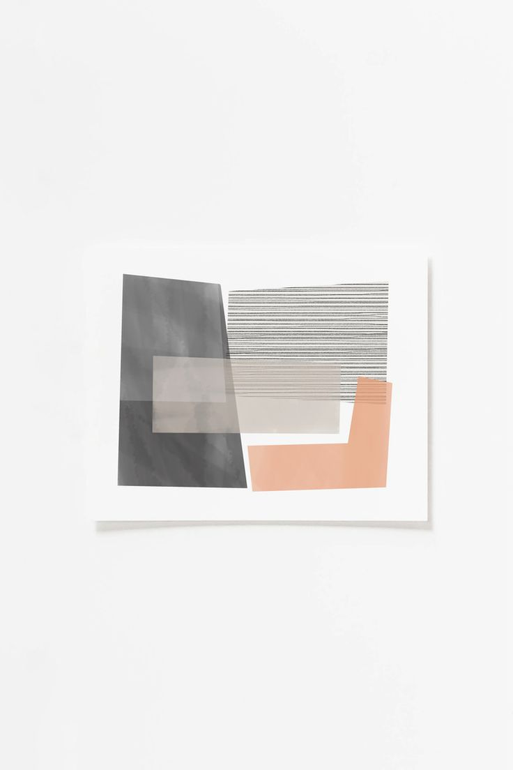 Peach Blocks Art Print by Jaymee Srp