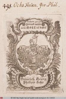 Wappen des Heinrich Georg Philipp Ochs