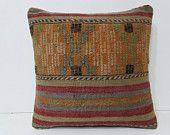 bohemian cushion 18x18 needlepoint pillow oversized pillow primitive pillow primitive country decor aztec pillow case handmade cushion 27969