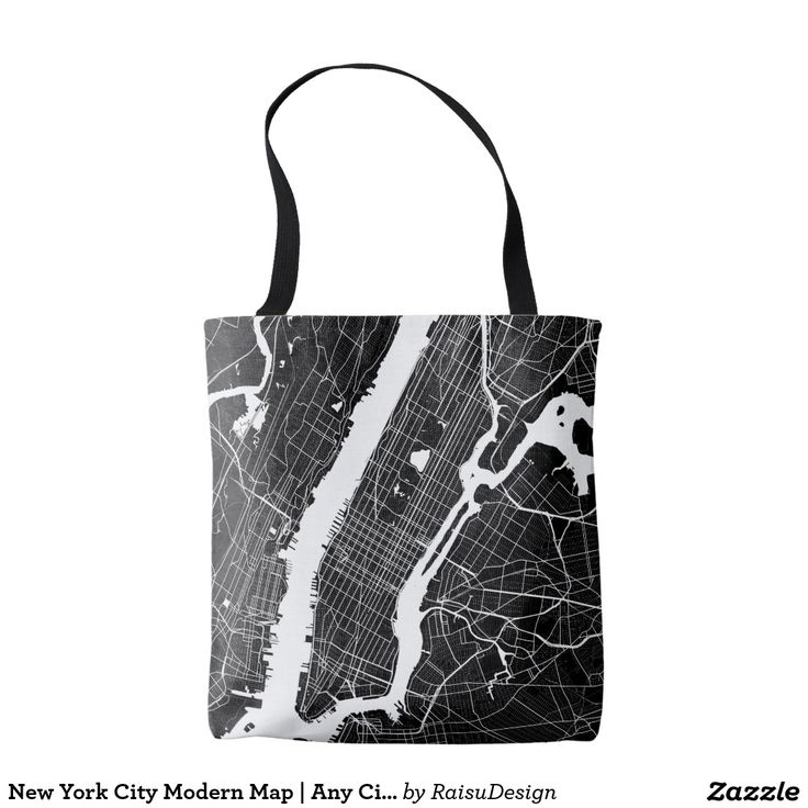 New York City Modern Map | Any City Tote Bag