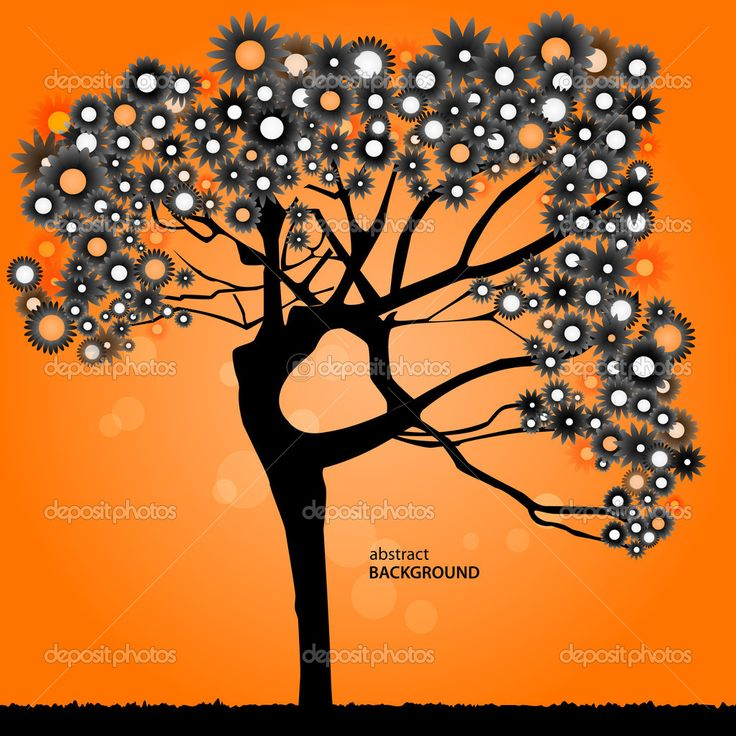 Скачать - Силуэт женщины в дереве — стоковая иллюстрация #6188030