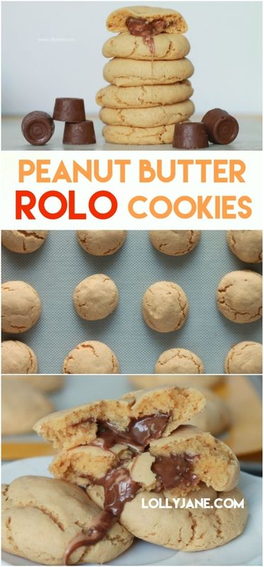 These peanut butter Rolo cookies are so good! Easy to make too! Just 5 ingredients for this easy cake mix peanut butter Rolo cookie dessert.
