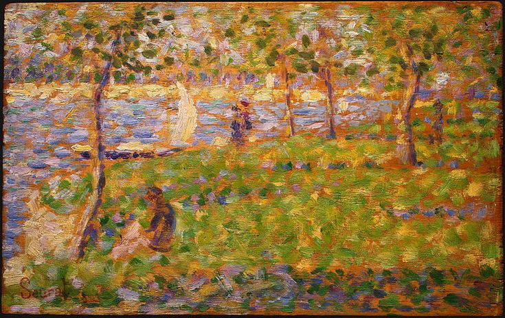 Georges Seurat - especially his sketches - like this one.