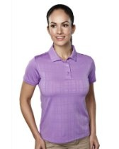 Tri-Mountain Women's Placket Tonal Plaid Polo Shirt. 021