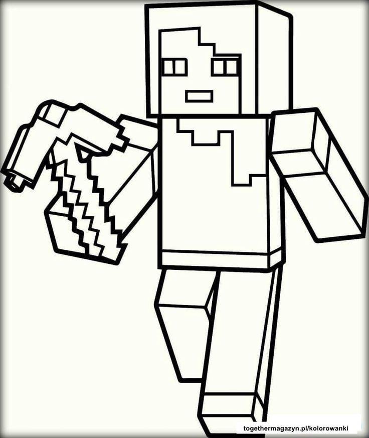 kolorowanki Minecraft para colorir, Minecraft para