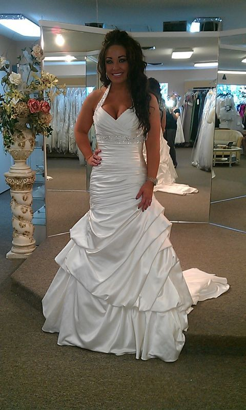 halter style plussizeweddingdresses offer support get custom gowns replicas for less at www designer wedding dressesfor