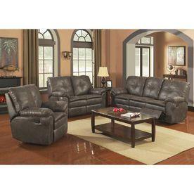 Sunset Trading 3-Piece Comfort Zone Steel Grey Living Room Set