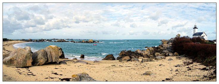 La plage et le phare de Pontusval sur la côte des légendes à Brignonan (Finistère sud) Bretagne - France / The beach and the lighthouse on the coast Pontusval captions Brignonan (South Finistère) Brittany - France | par guylp