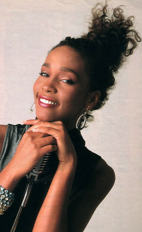 Whitney Houston photographed for Seventeen magazine, November 1985, by Knut Bry.