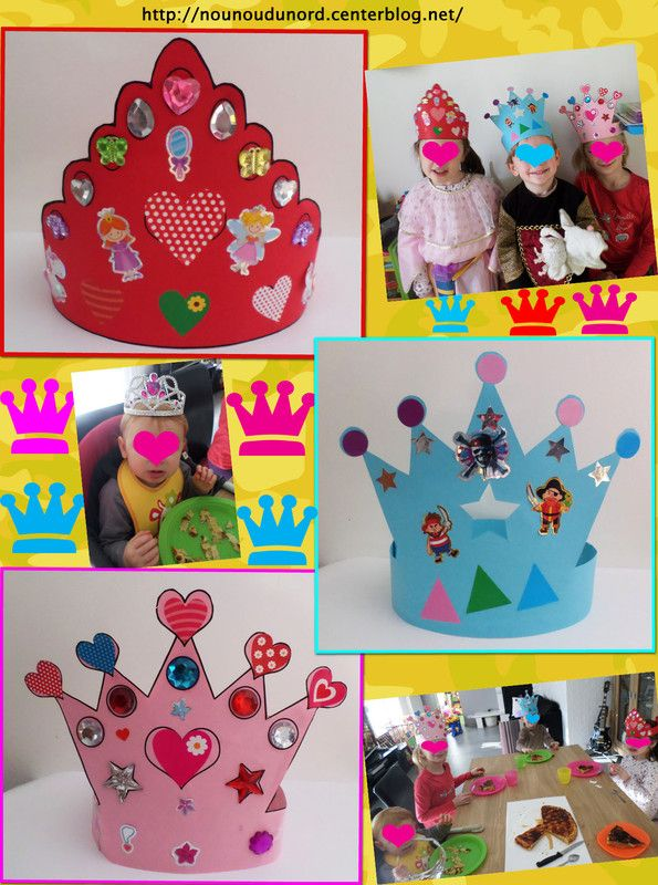 les couronnes réalisées par Lison, Annalisa et Gaspard