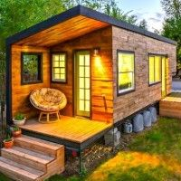 196 Square Foot Tiny Trailer Home In 2019 Micro House