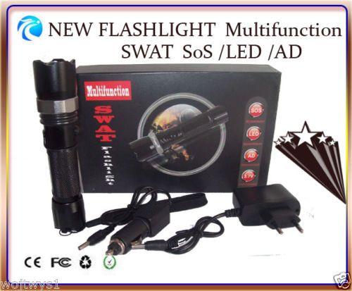 LED LUXEON 3W Cree Q5 Multifunction Flashlight SWAT