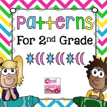 This packs is perfect for teaching second grade patterns. Tons of worksheets and lesson ideas.