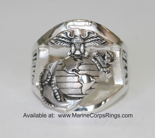 beautiful sterling silver marine corps ring made in the